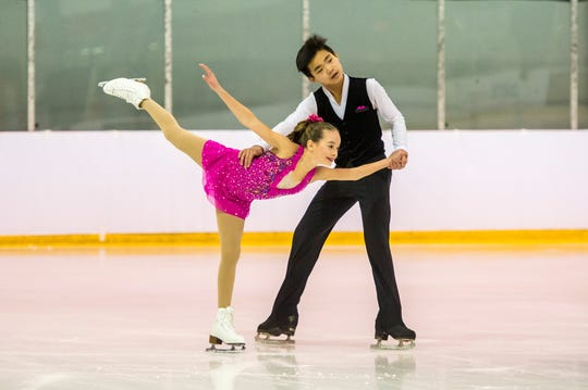 Dalila DeLaura of Chatham and Ryan Xie of Hillsborough will compete at U.S. figure skating juvenile nationals