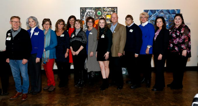 Members of the Rutherford Arts Allliance include, from left, Ron Alley, Andrea Loughry, Kory Wells, Ginny Togrye, Ginna Foster Cannon, Lee Rennick, Susan Gulley, Sarah Oppmann, Mark Wilson, Terry Womack, Connie Huddleston, Tara MacDougall and Patience Long.