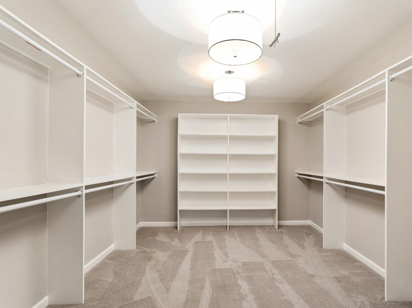 AFTER: The master bedroom redesign at 1104 Chelsea Court also offers a large walk-in closet.