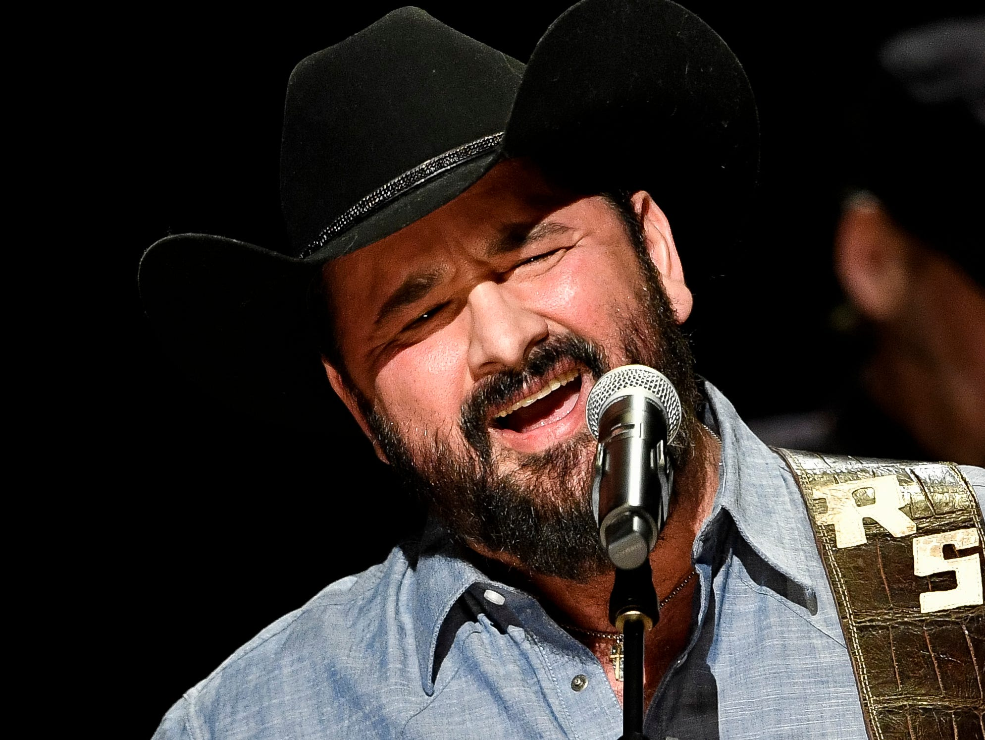 Ray Scott performs during the C'Ya On The Flipside Benefit Concert at the Grand Ole Opry House in Nashville, Tenn., Wednesday, Jan. 9, 2019.