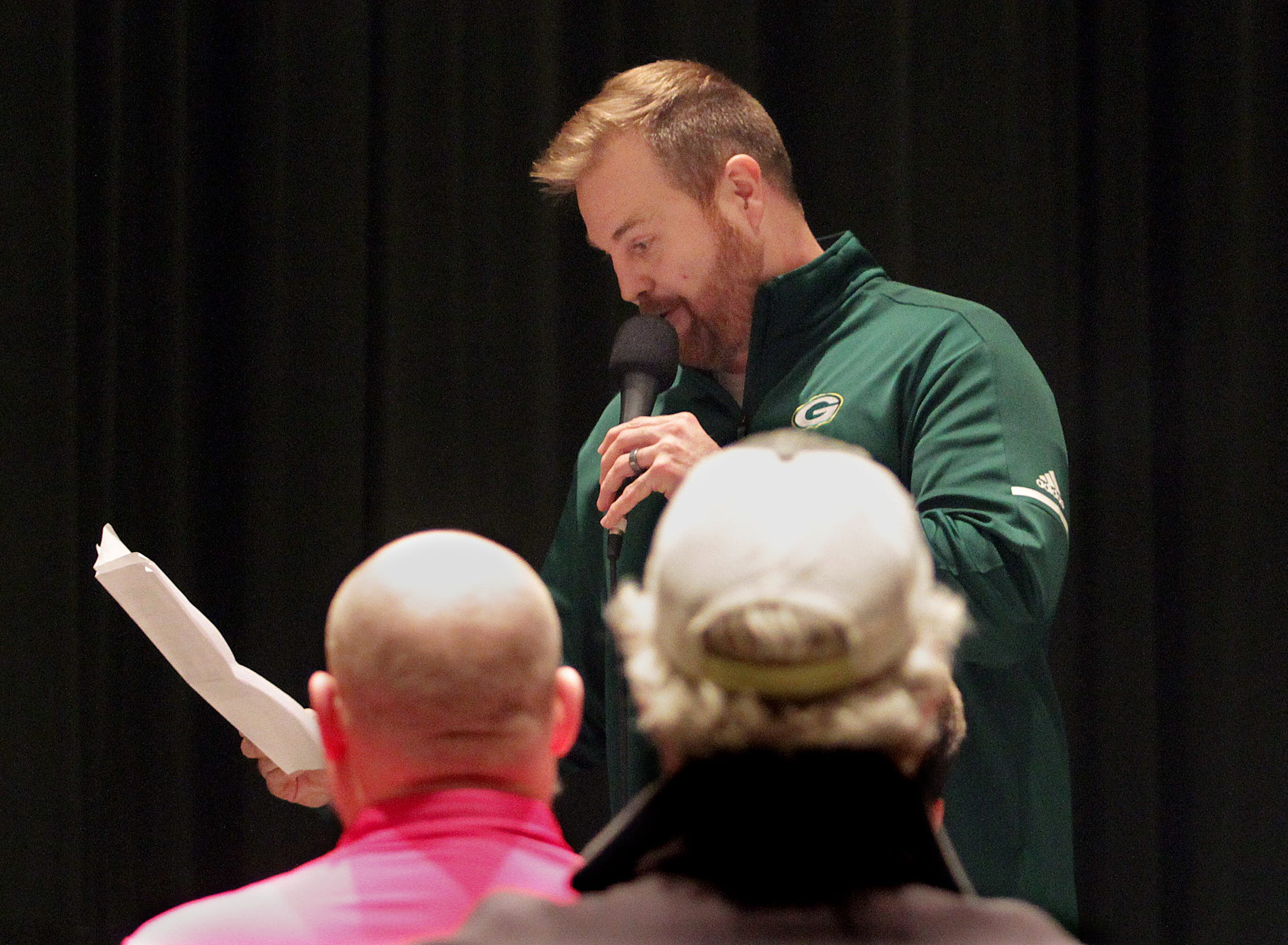 New Gallatin Football Coach Chad Watson speaks about the job ahead of him at a meeting at Gallatin High School on Tuesday, January 9, 2019.