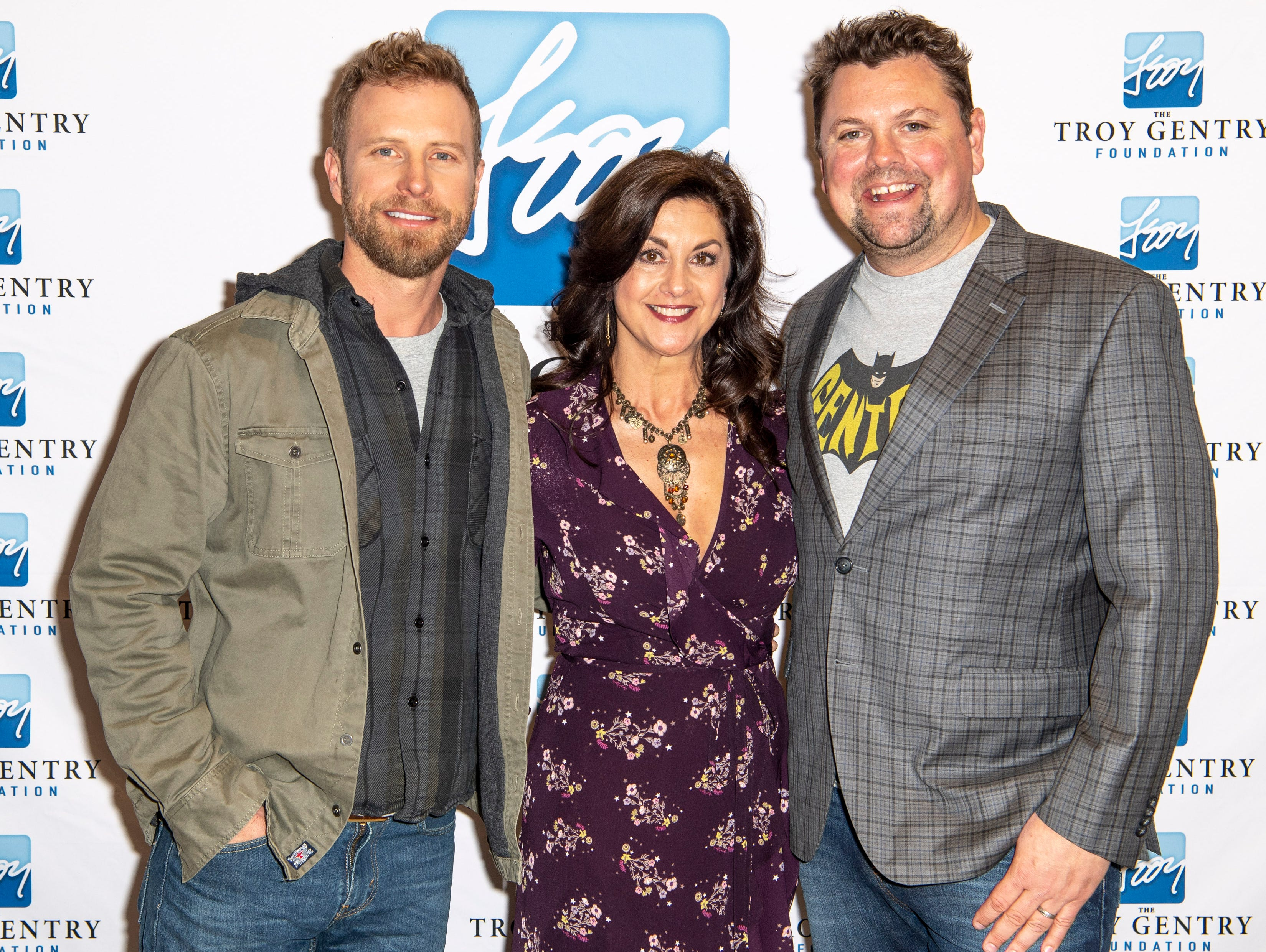 Dierks Bentley, Angie Gentry, and Storme Warren on the red carpet before the C'Ya On The Flipside Benefit Concert at the Grand Ole Opry House in Nashville, Tenn., Wednesday, Jan. 9, 2019.