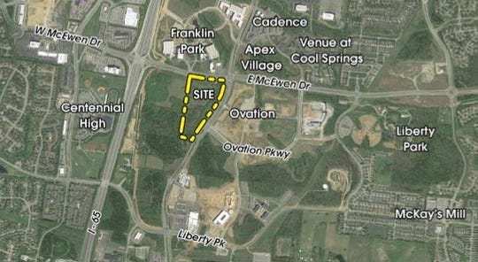The proposed site where Aurem would go.