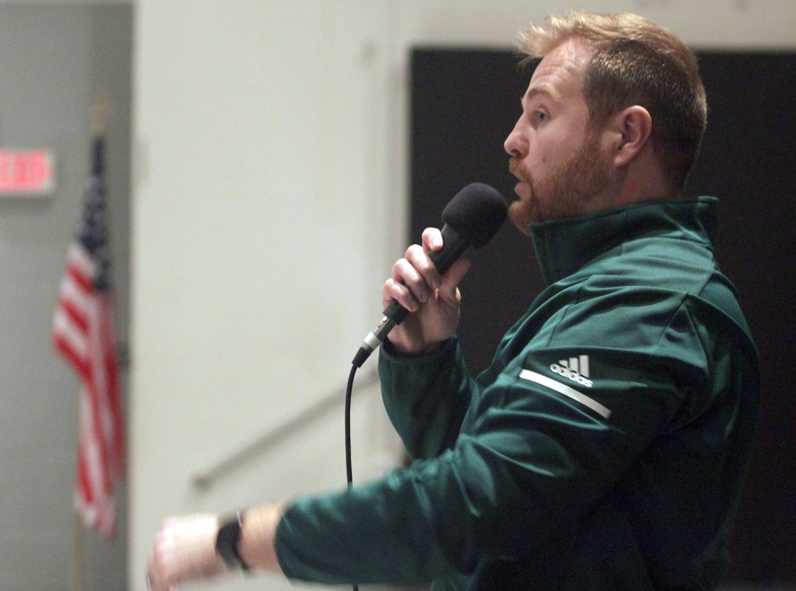 New Gallatin football coach Chad Watson talks about his plans for his team at Gallatin High School on Tuesday, January 8, 2019.