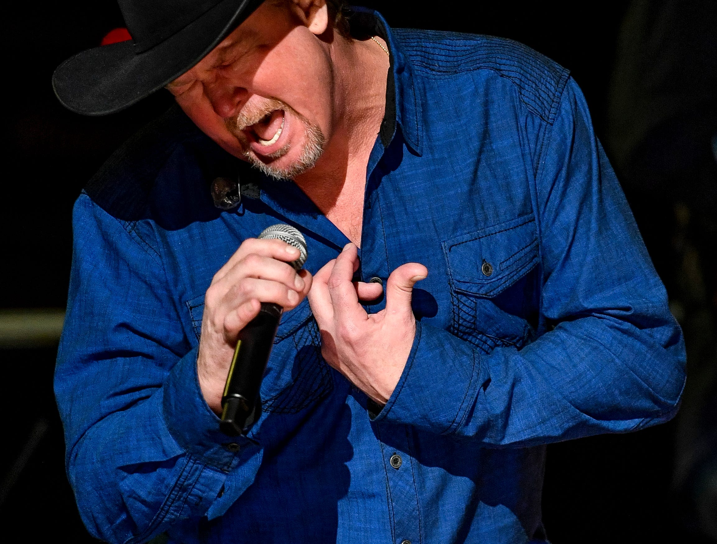 Tracy Lawrence performs during the C'Ya On The Flipside Benefit Concert at the Grand Ole Opry House in Nashville, Tenn., Wednesday, Jan. 9, 2019.