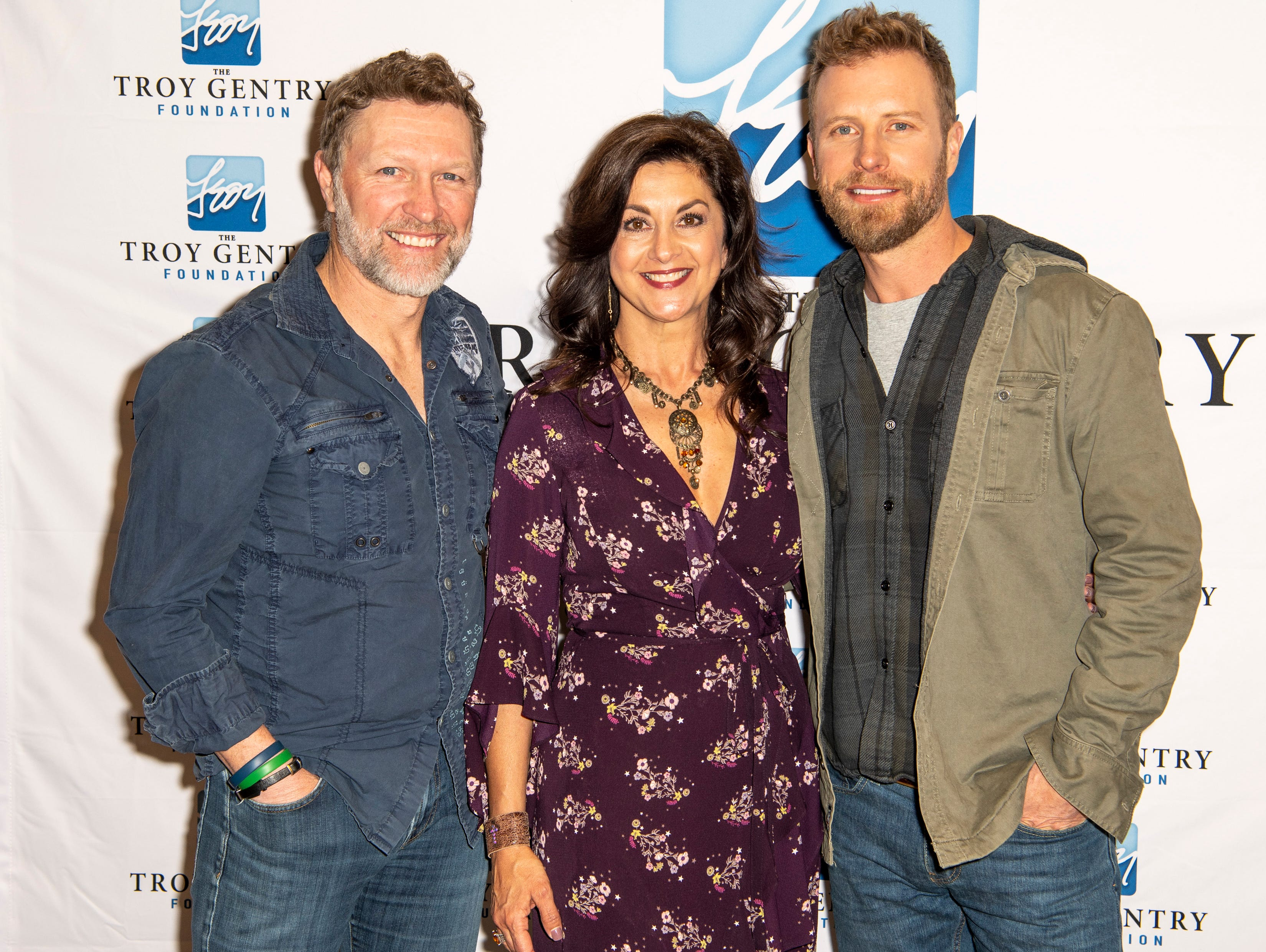 Craig Morgan, Angie Gentry, and Dierks Bentley and on the red carpet before the C'Ya On The Flipside Benefit Concert at the Grand Ole Opry House in Nashville, Tenn., Wednesday, Jan. 9, 2019.