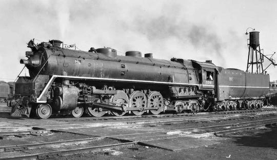 A photograph of Nashville Steam Locomotive No. 576 when it was operational .