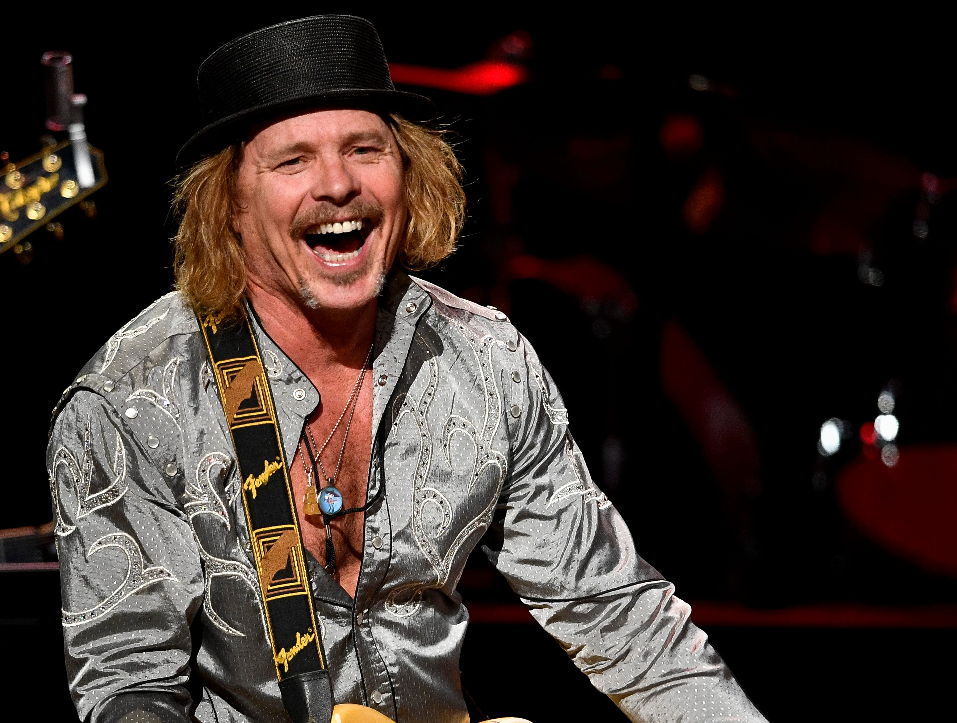 Jeffrey Steele performs during the C'Ya On The Flipside Benefit Concert at the Grand Ole Opry House in Nashville, Tenn., Wednesday, Jan. 9, 2019.