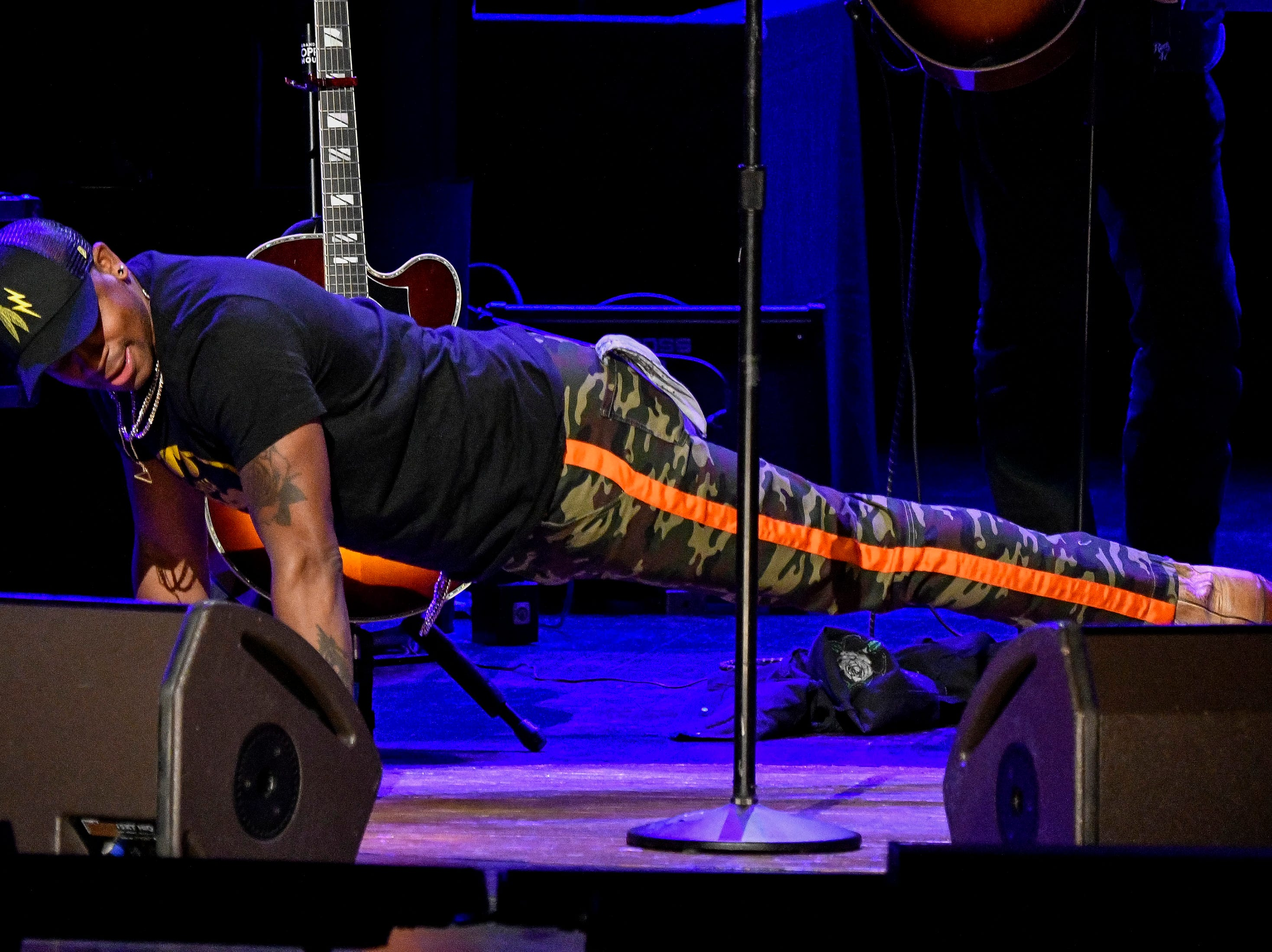 Jimmie Allen performs during the C'Ya On The Flipside Benefit Concert at the Grand Ole Opry House in Nashville, Tenn., Wednesday, Jan. 9, 2019.