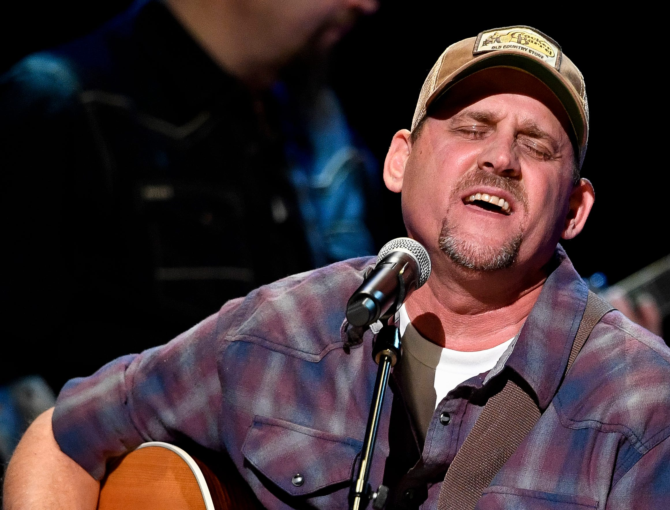 Neil Thrasher performs during the C'Ya On The Flipside Benefit Concert at the Grand Ole Opry House in Nashville, Tenn., Wednesday, Jan. 9, 2019.