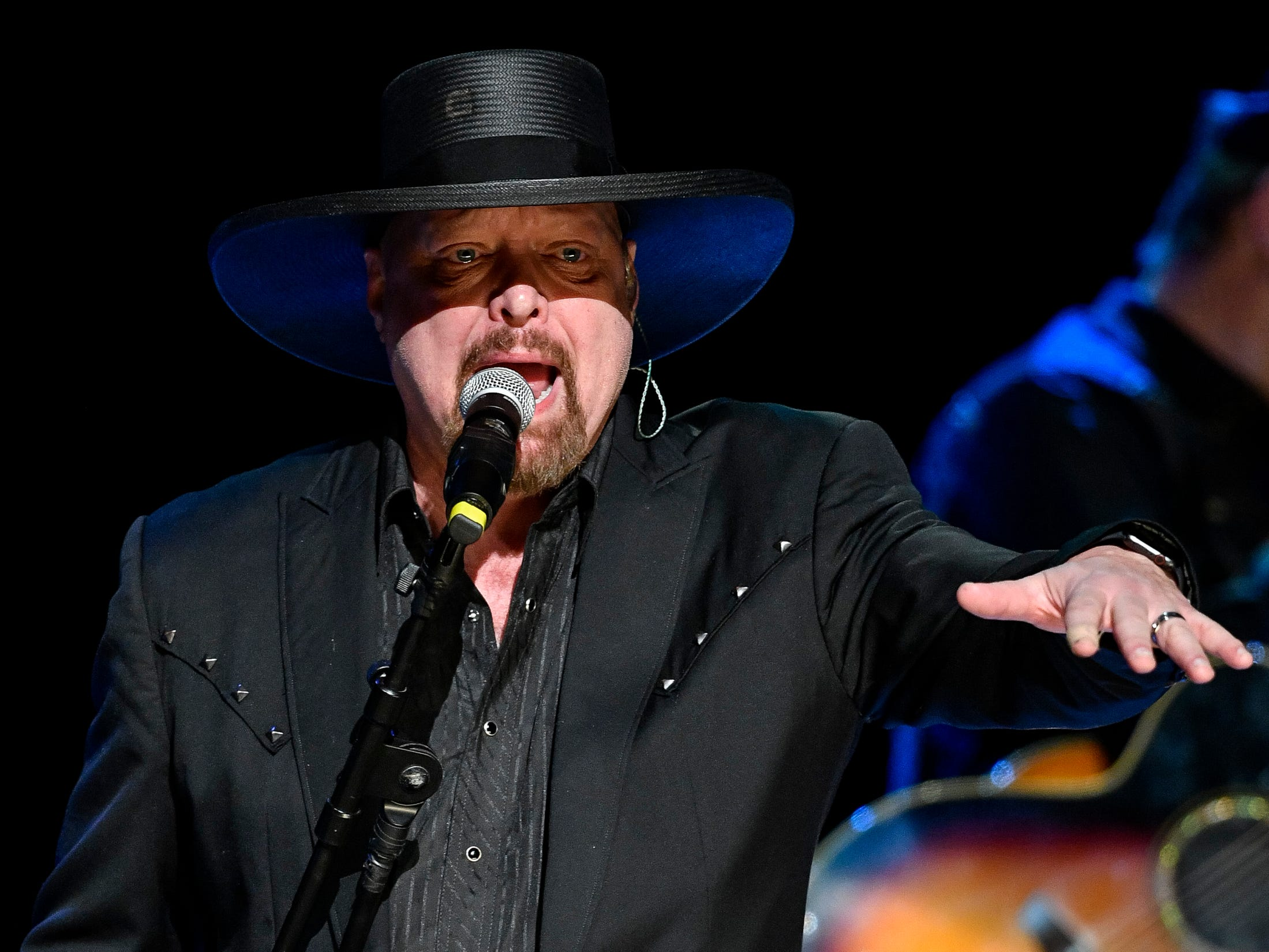 Eddie Montgomery performs during the C'Ya On The Flipside Benefit Concert at the Grand Ole Opry House in Nashville, Tenn., Wednesday, Jan. 9, 2019.