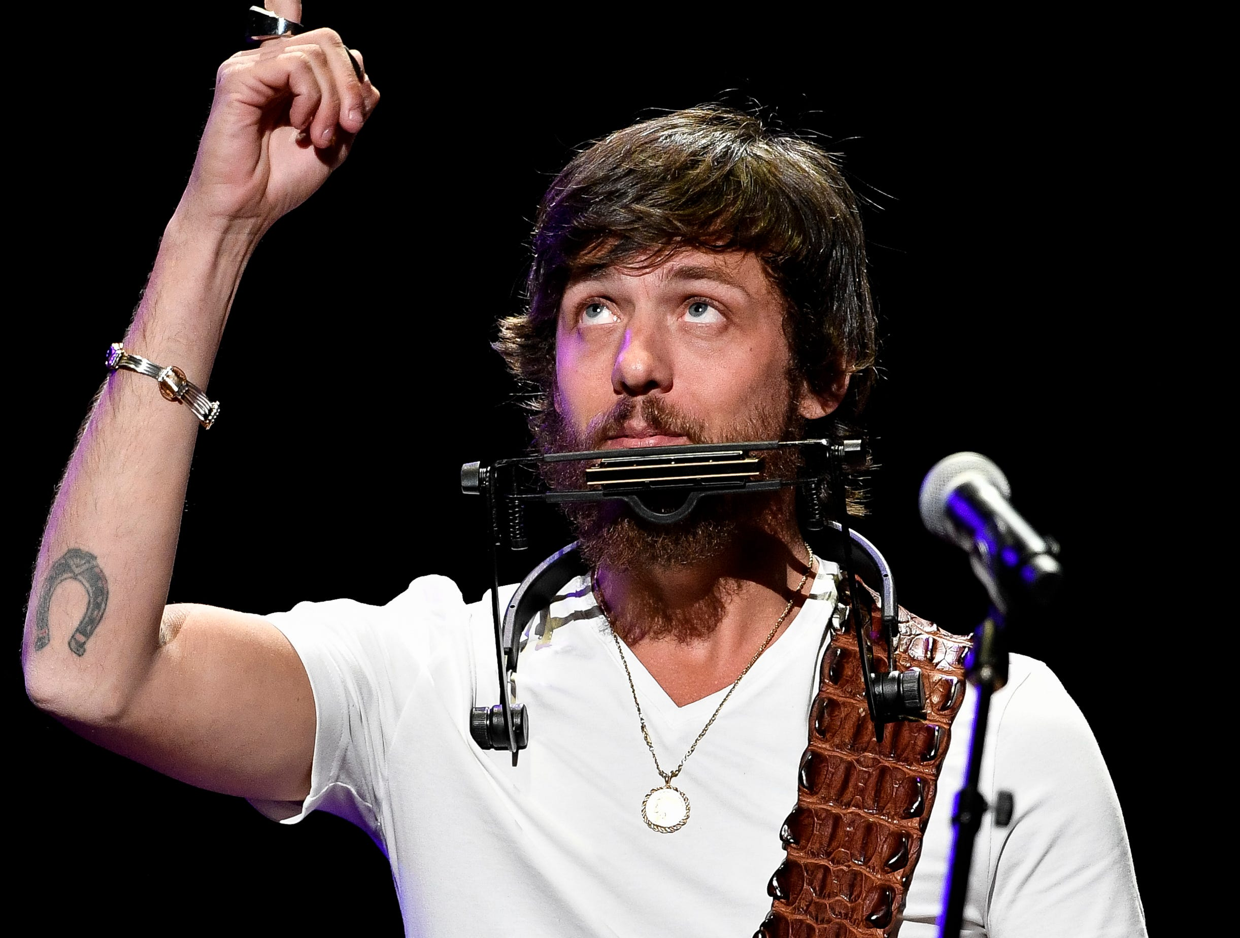 Chris Janson performs during the C'Ya On The Flipside Benefit Concert at the Grand Ole Opry House in Nashville, Tenn., Wednesday, Jan. 9, 2019.