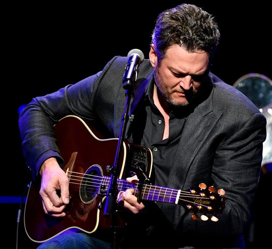 Blake Shelton performs during the C'Ya On The Flipside Benefit Concert at the Grand Ole Opry House in Nashville, Tenn., Wednesday, Jan. 9, 2019.
