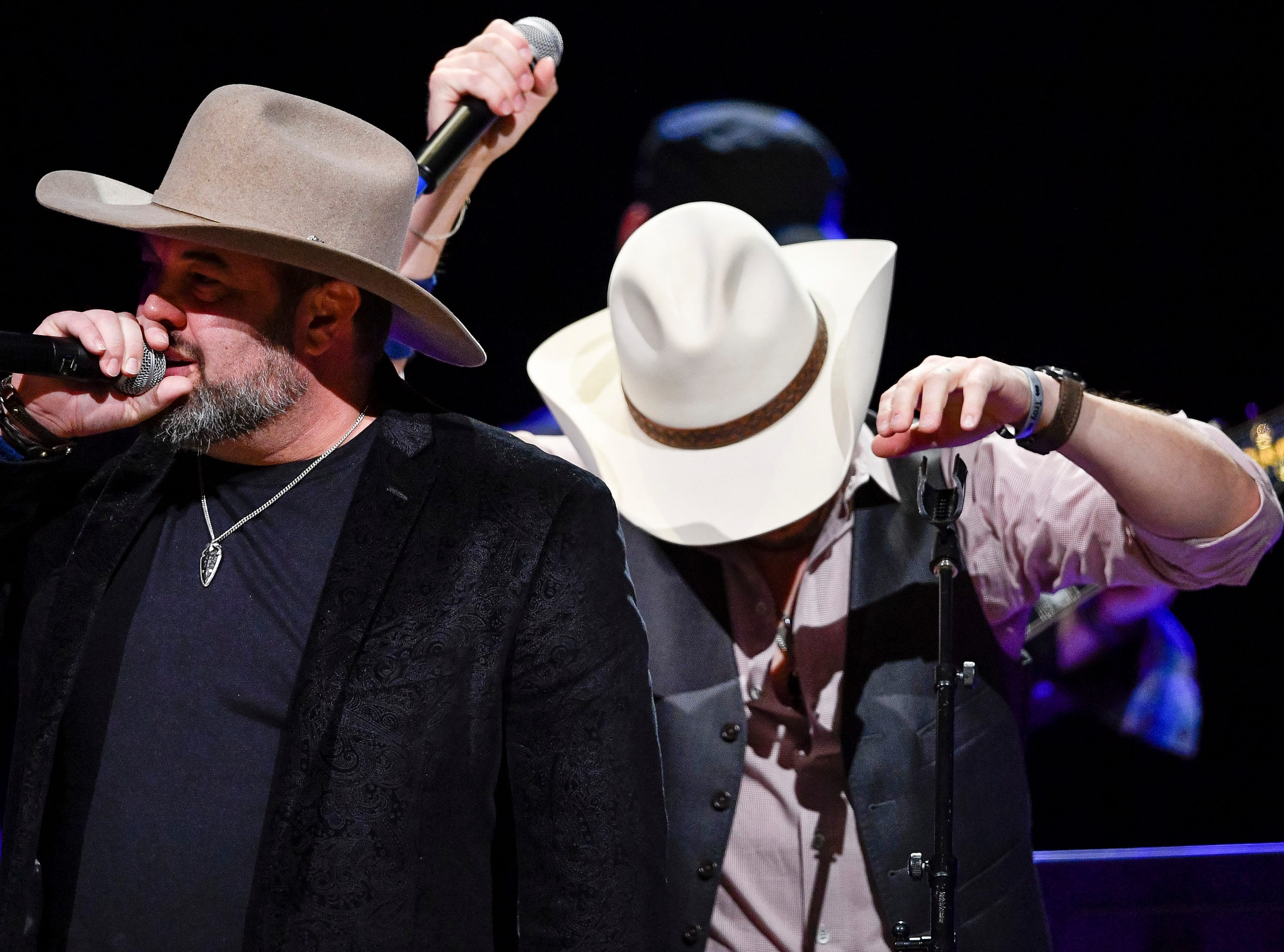Halfway to Hazard performs during the C'Ya On The Flipside Benefit Concert at the Grand Ole Opry House in Nashville, Tenn., Wednesday, Jan. 9, 2019.