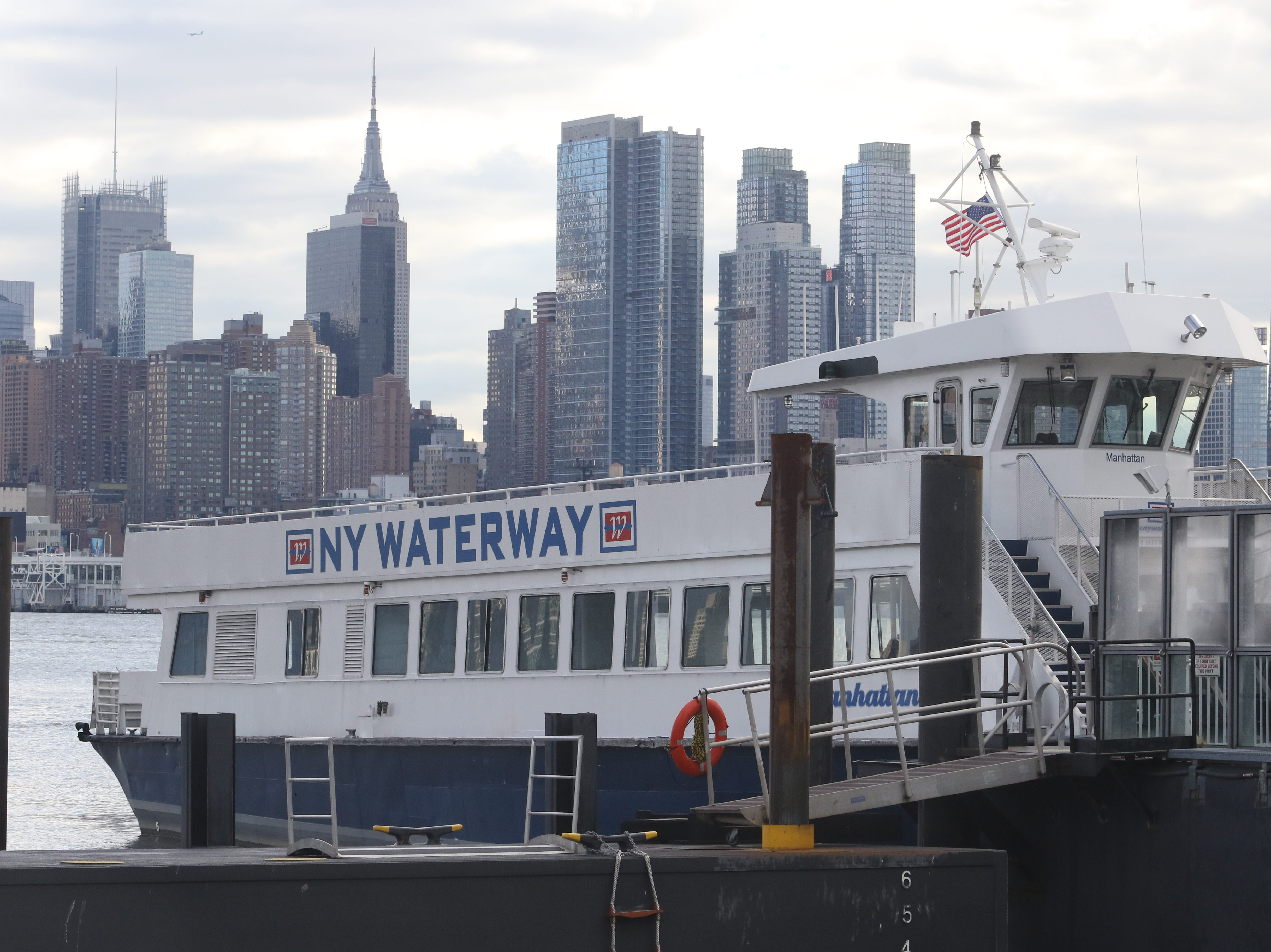 The ferry Manhattan with the Manhattan skyline in the background on January 9, 2019.