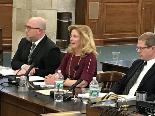 Heather Taylor, the governor's chief ethics officer testifies before the Select Oversight Committee in the Statehouse on Jan. 10, 2019.