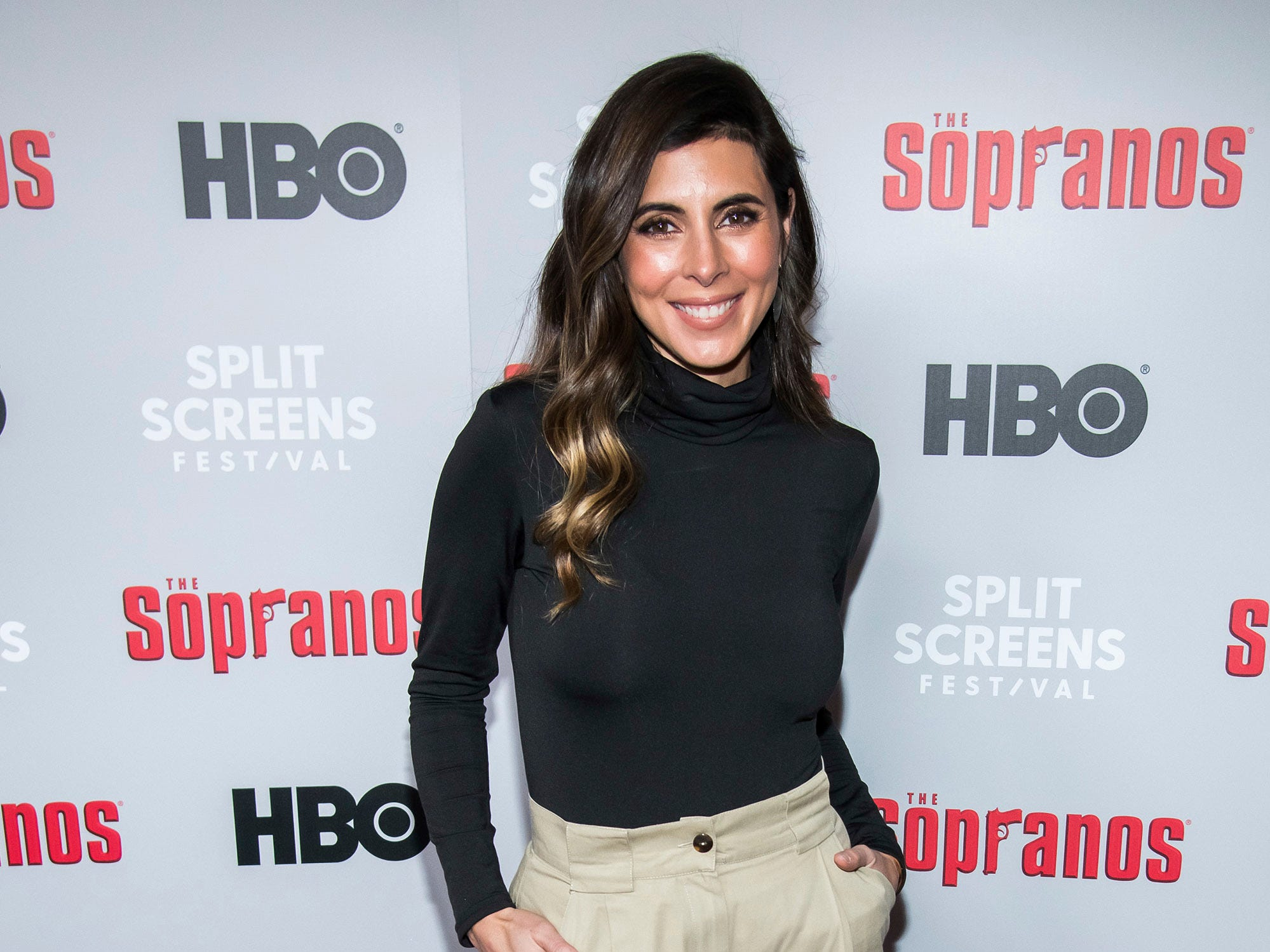 "Jamie-Lynn Sigler attends HBO's ""The Sopranos"" 20th anniversary at the SVA Theatre on Wednesday, Jan. 9, 2019, in New York. (Photo by Charles Sykes/Invision/AP)"
