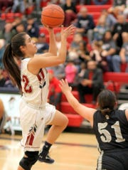 Senior Lady 'Cat post Rosa Villagrana, left, provides quality minutes on the floor.