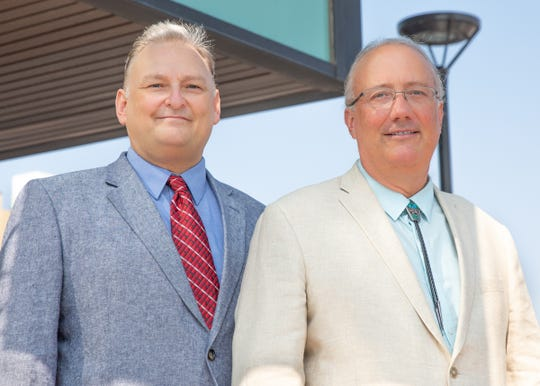 From left: professors Eric Prossnitz of the University of New Mexico Department of Internal Medicine and Jeffrey Arterburn of New Mexico State University's Department of Chemistry and Biochemistry discovered a compound that may lead to new skin cancer treatments.