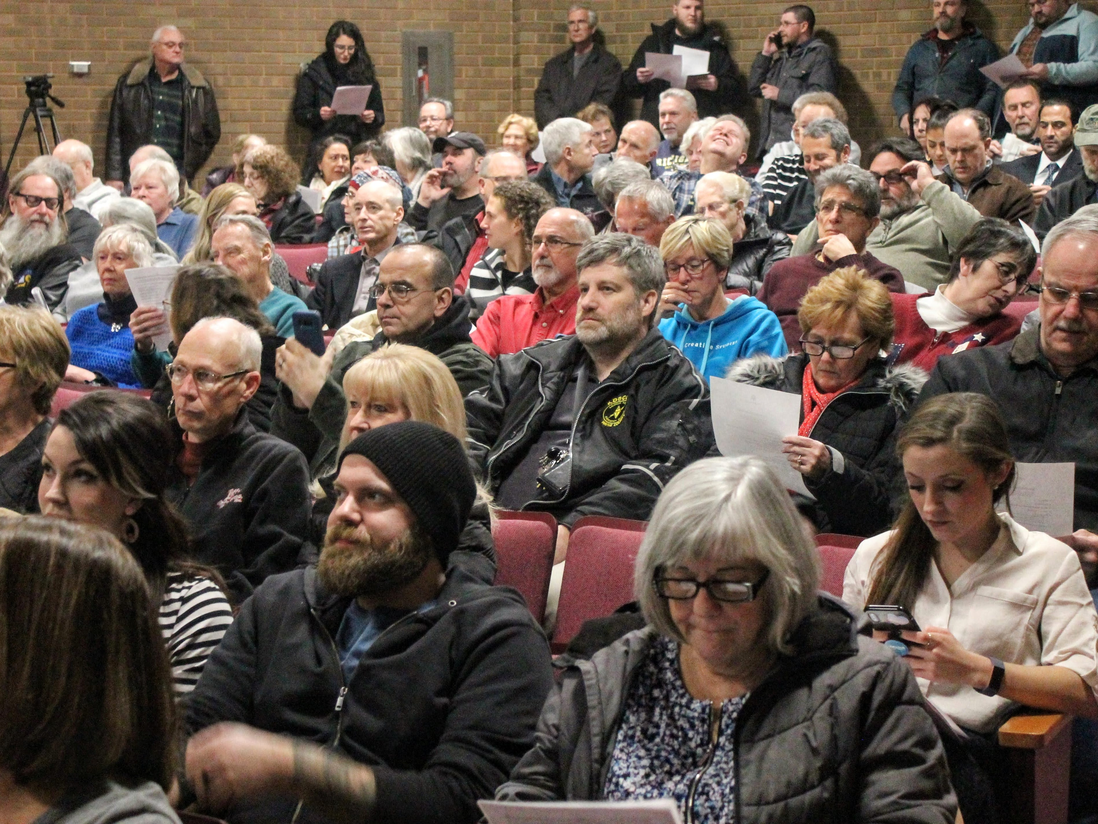 A full crowd came to the Save Hines Park meeting Jan. 9 in Livonia.