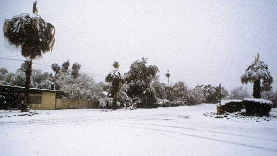 Palm Springs snowfall in 1979.
