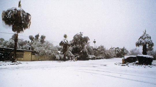 Palm Springs snowfall in 1979.