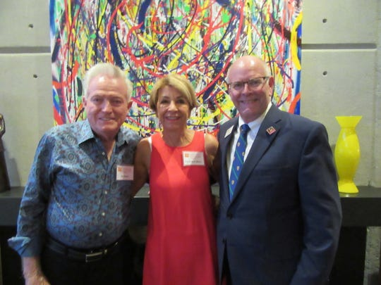 (L to R) Hosts Ed and Carol Dean with College of the Desert Foundation executive director John Mosser.