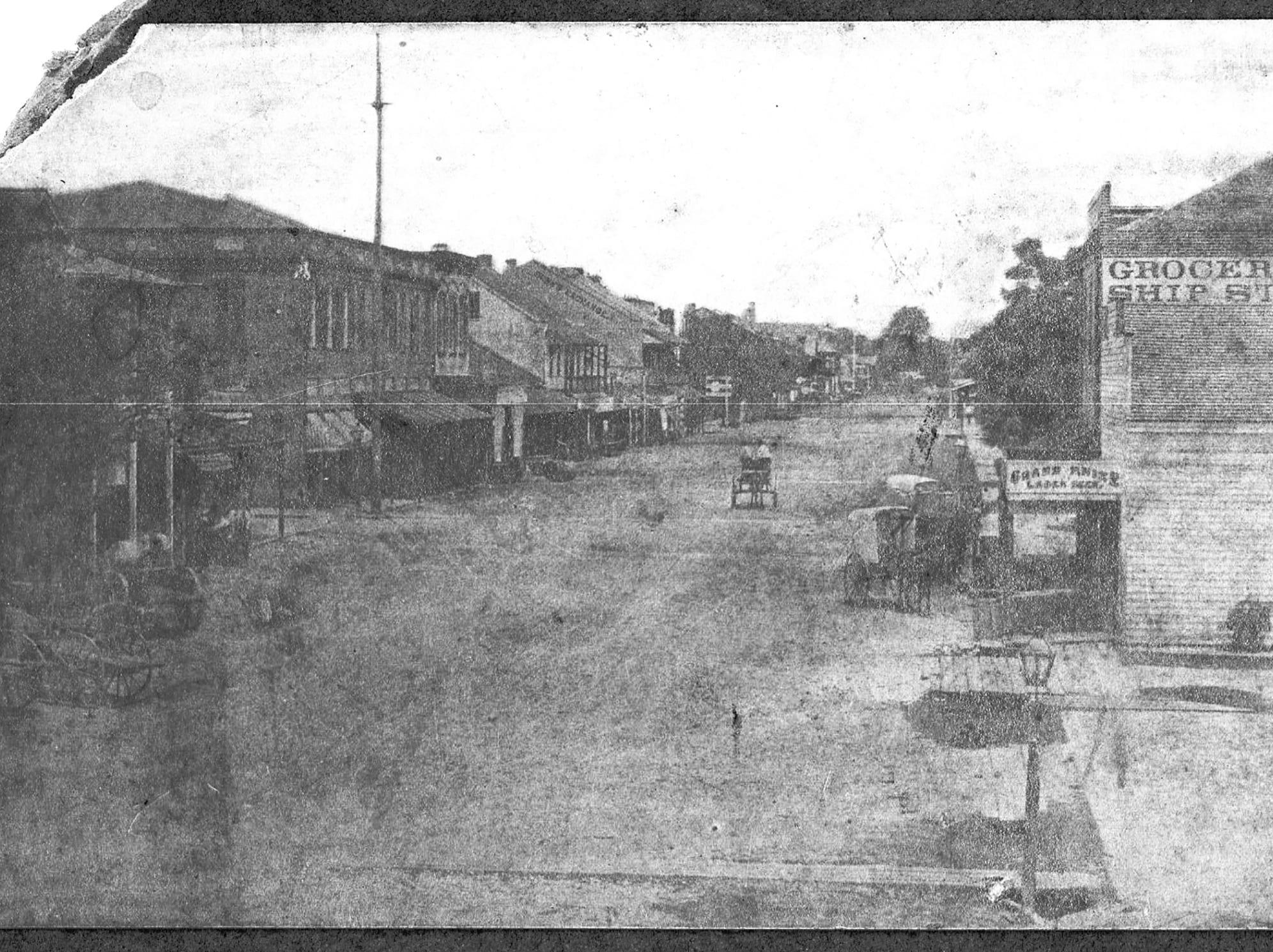 Palafox Street in 1876