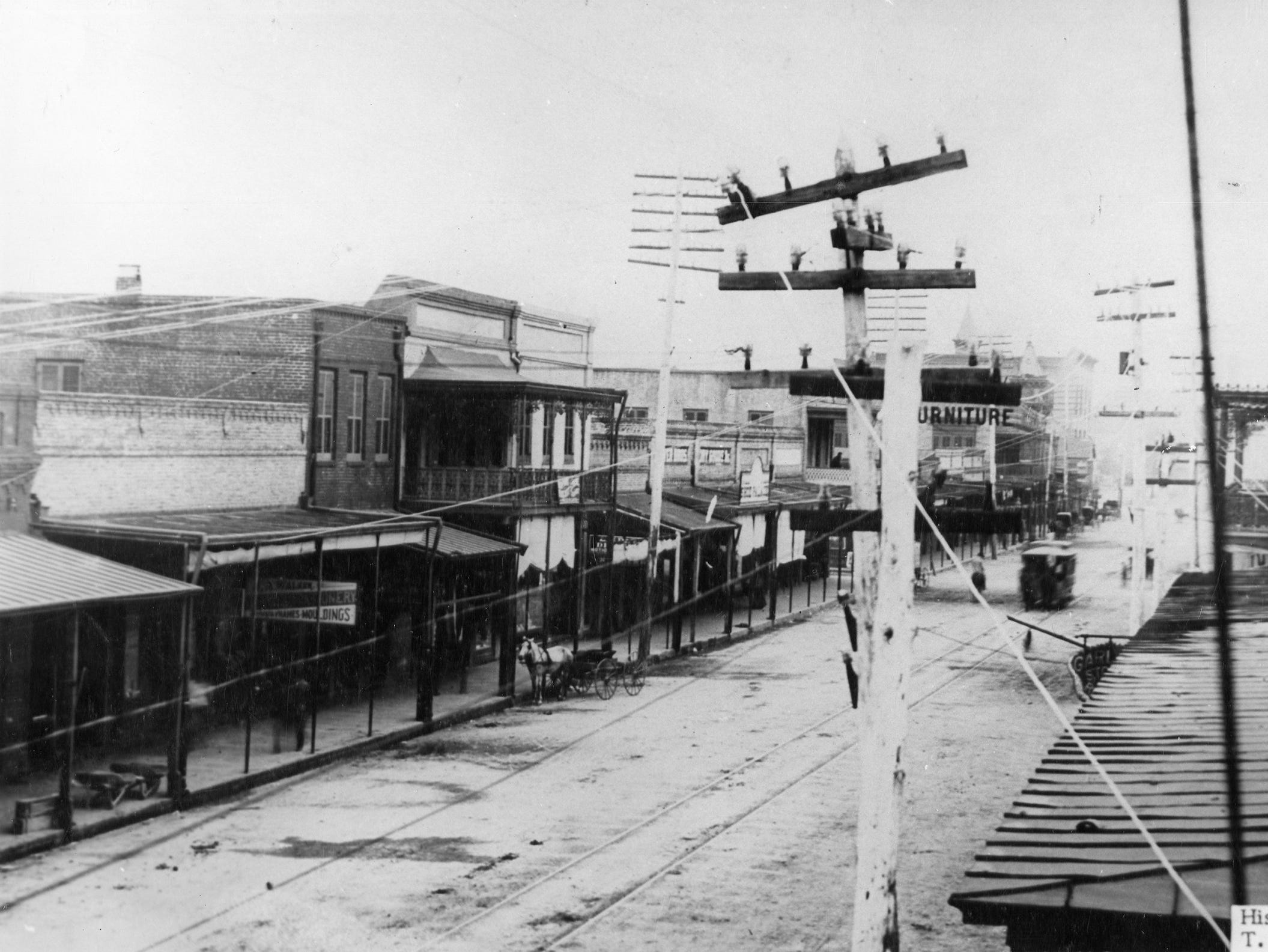 Palafox Street looking south. Date unknown.