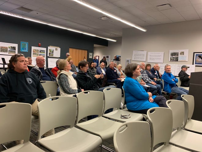 Around 50 people showed up to the Gulf Breeze Community Center on Thursday evening for a public forum on the proposed Blueways project, which would renovate public water accesses around the city.