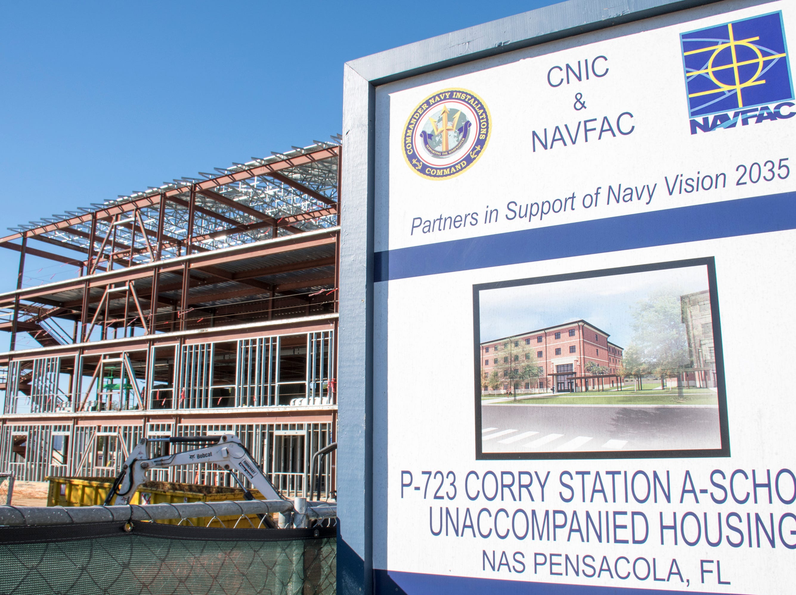 Construction of new housing is underway at NAS Pensacola Corry Station in Pensacola on Thursday, January 10, 2019.