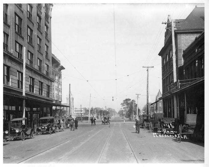 Palafox Street, looking south. Date unknown.