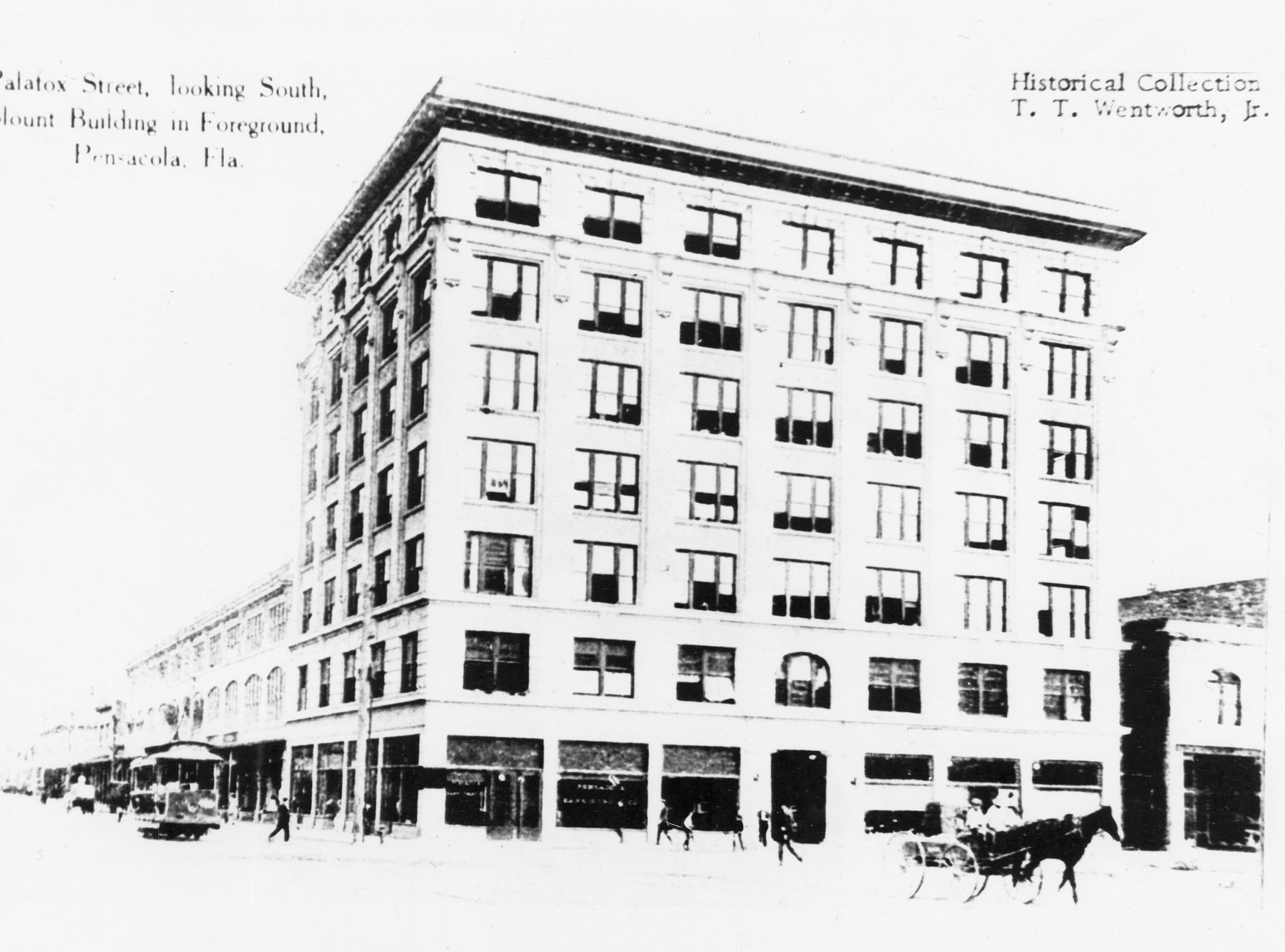 Blount Building on Palafox Street. Date unknown.