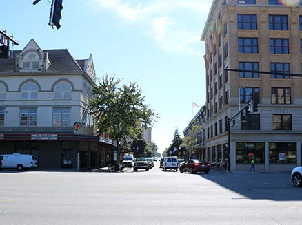 Current south view of Palafox Street