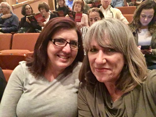 "Waiting for the start of ""Hello, Dolly!"" at ASU's Gammage with Niki Pallas after sidestepping to our seats."
