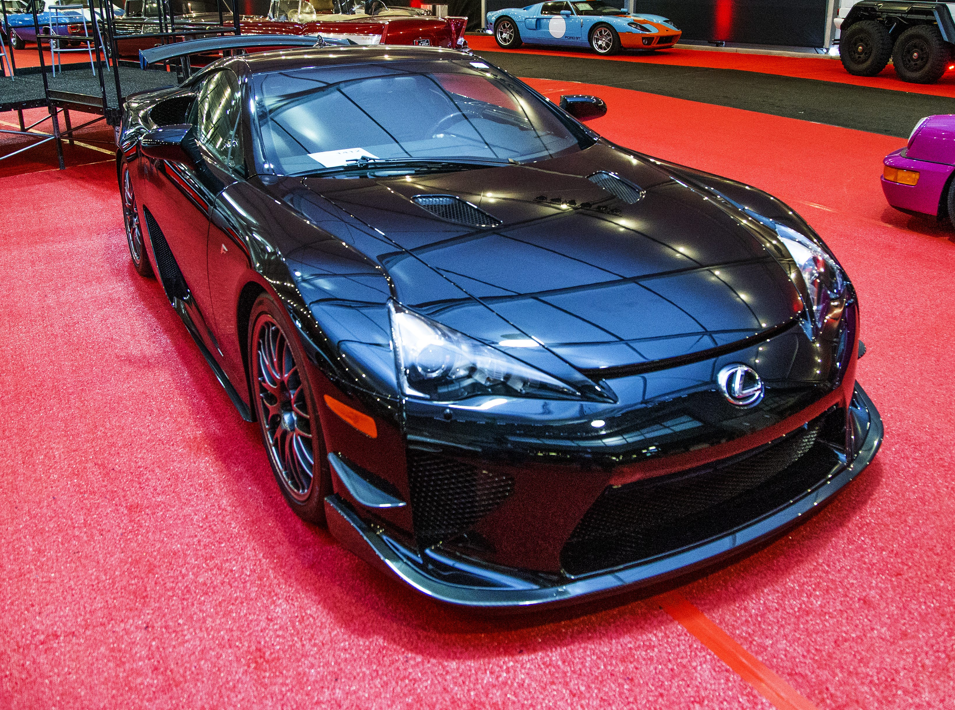 This 2012 Lexus LFA Nurburgring Edition will be auctioned off at the 48th Annual Barrett-Jackson Scottsdale Collector Car Auction, which runs January 12-20 at WestWorld. It is extremely rare.