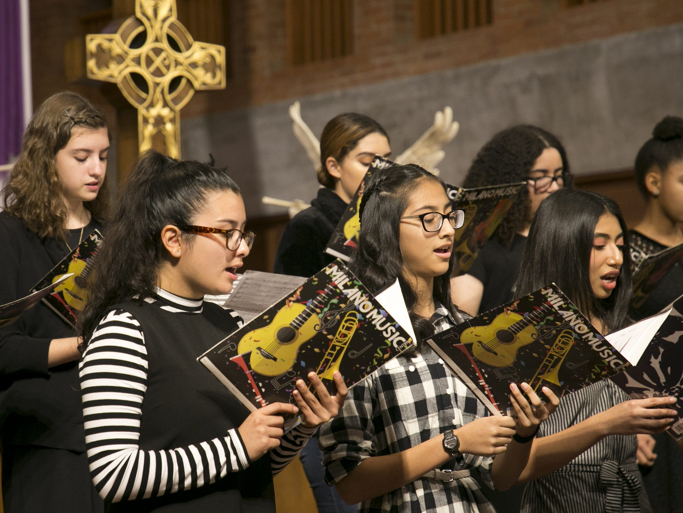 Choir students perform at Rosie's House music academy on Dec. 15, 2018. Rosie's House offers free, 100 percent-charity-funded programs for at-risk youth.