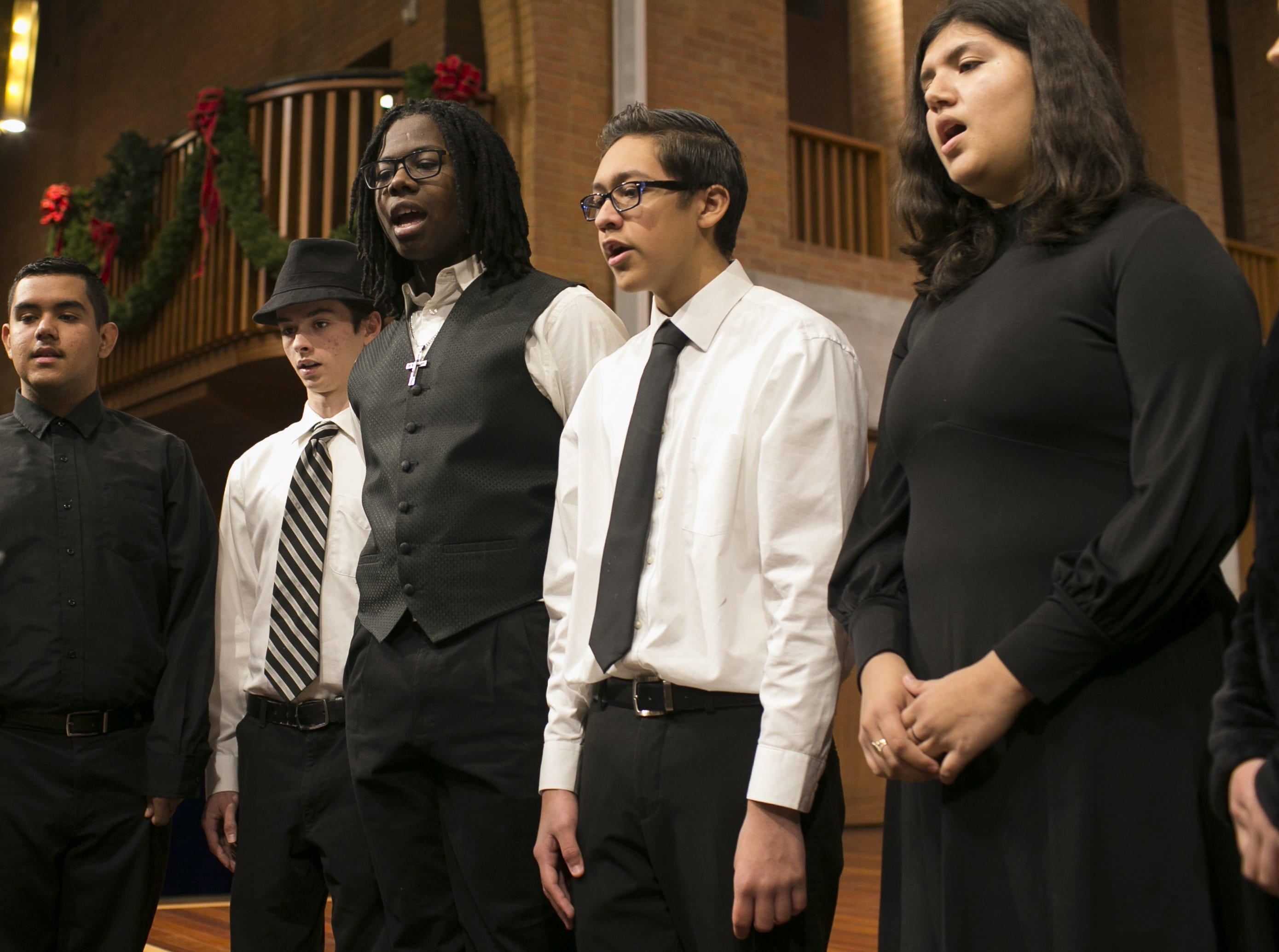 Choir students participate in free music classes at Rosie's House music academy on Dec. 15, 2018. Rosie's House offers free, 100 percent-charity-funded programs for at-risk youth.