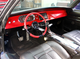 Larry Fitzgerald's 1968 Dodge Charger has a red dashboard and steerling wheel.
