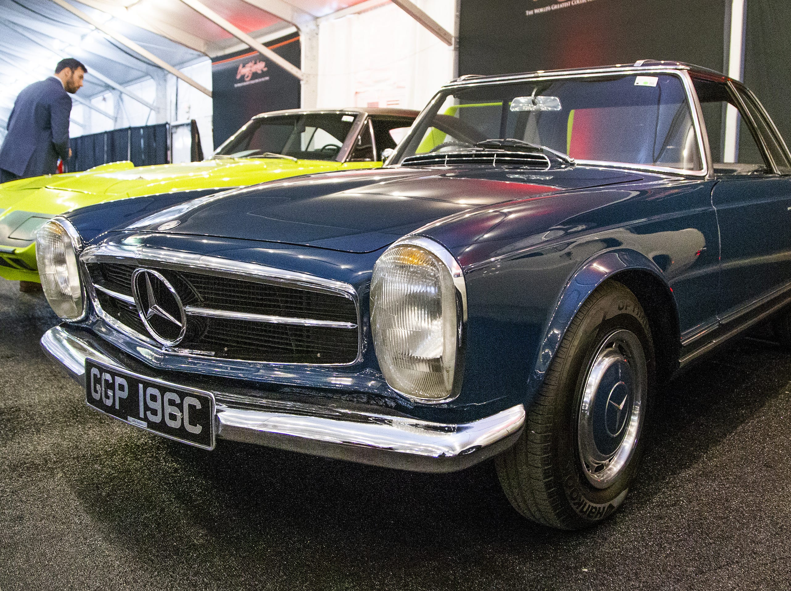 This 1965 Mercedes-Benz 230 SL Roadster, once owned by John Lennon, will be auctioned off at the  48th Annual Barrett-Jackson Scottsdale Collector Car Auction, which runs January 12-20 at WestWorld.