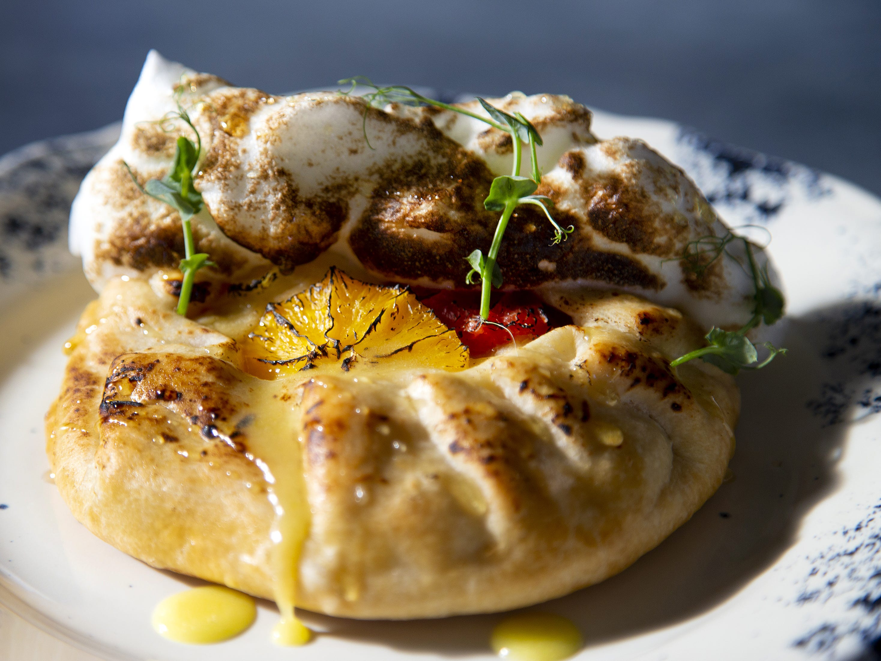 Citrus crostata by The Larder + The Delta, a new downtown Southern-influenced restaurant from Stephen Jones.
