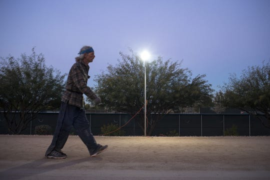 John Geesler walks the course, January 3, 2019, during the Across the Years Race at Camelback Ranch, Glendale