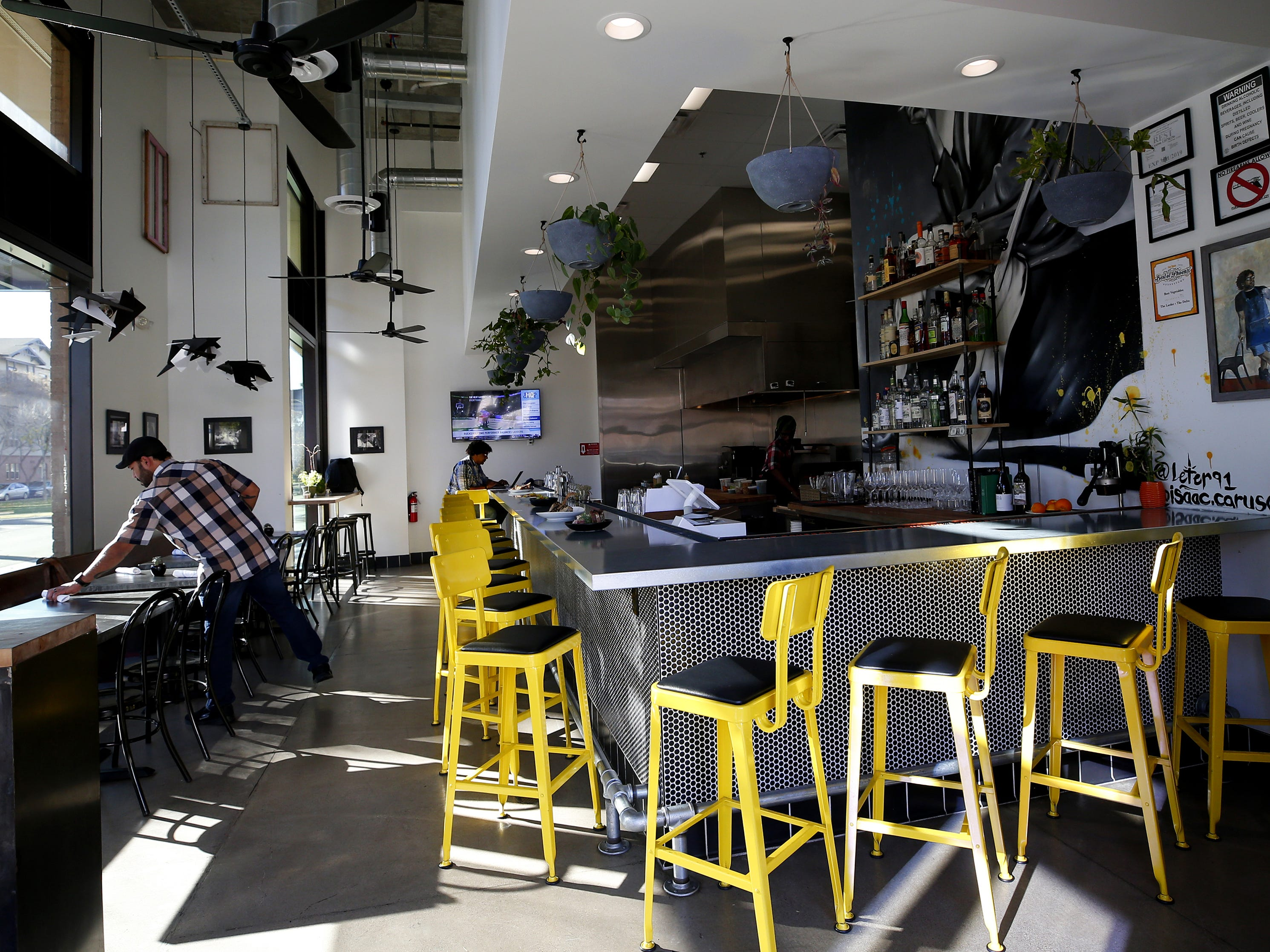 Interior of The Larder + The Delta, a new downtown Southern-influenced restaurant from Stephen Jones.