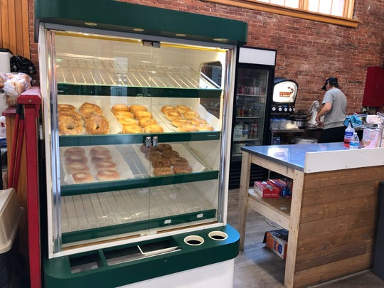 Bagels and full-size doughnuts are now on sale at the recently rebranded Tiki T's Mini Donuts & More.