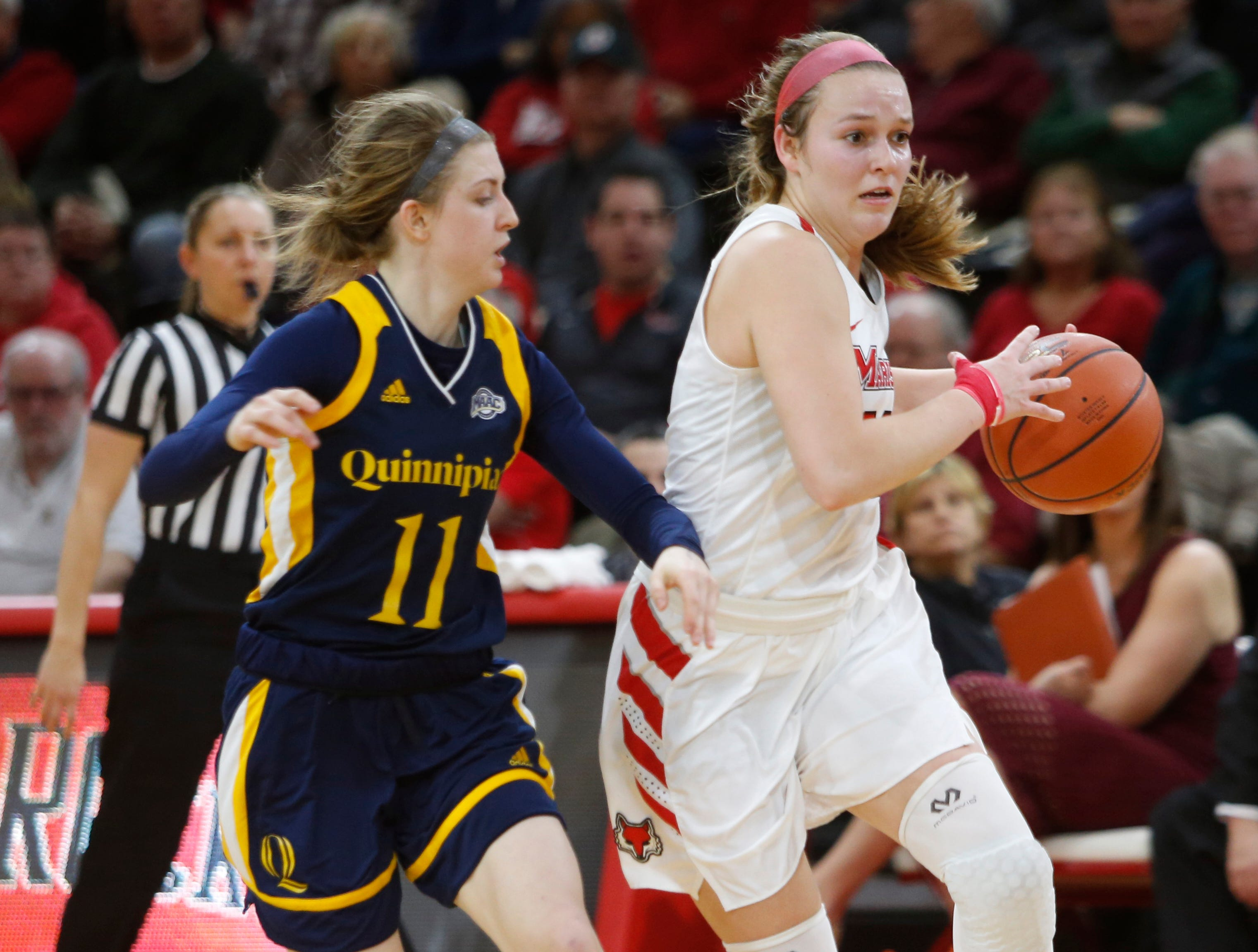 Action from the Marist College versus Quinnipiac women's basketball game on January 10, 2019.