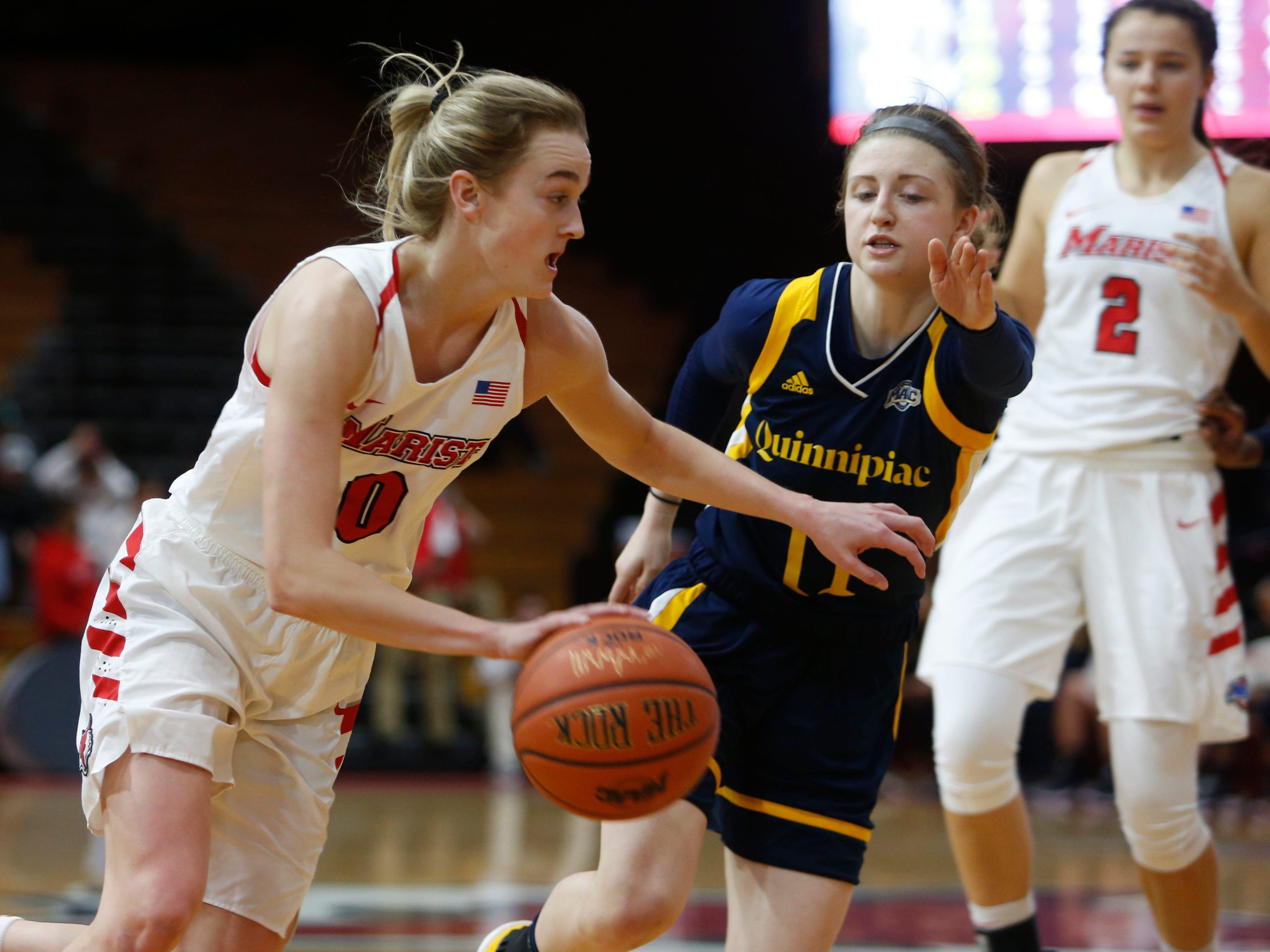 Marist College's Grace Vander Weide drives to the basket against Quinnipiac on Jan. 10.