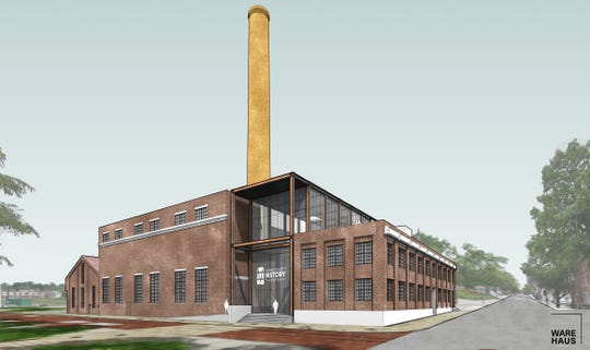 Design rendering of the upcoming York County History Center Museum and Library Archives at the former Met-Ed steam plant, scheduled to open in 2021.  Four roundtable discussions will be held throughout the county in January 2019 for public input.