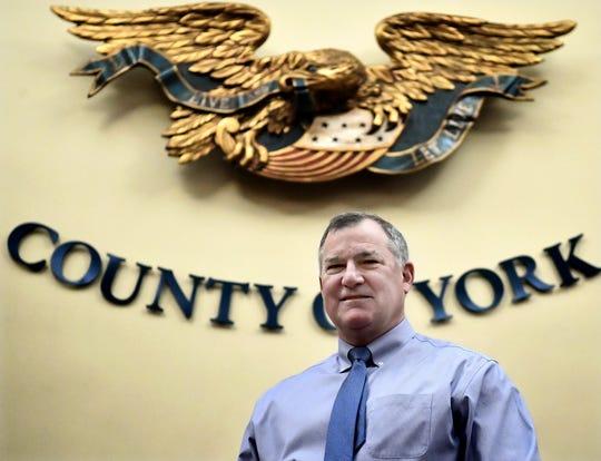Mark Derr, York County administrator, at the York County Administrative Center Thursday, Jan. 10, 2019. Bill Kalina photo
