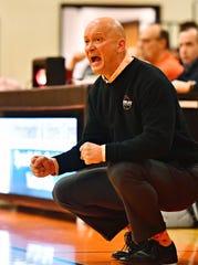 Manheim Township vs Northeastern during basketball action at Northeastern Senior High School in Manchester, Wednesday, Jan. 9, 2019. Northeastern would win the game 47-46. Dawn J. Sagert photo