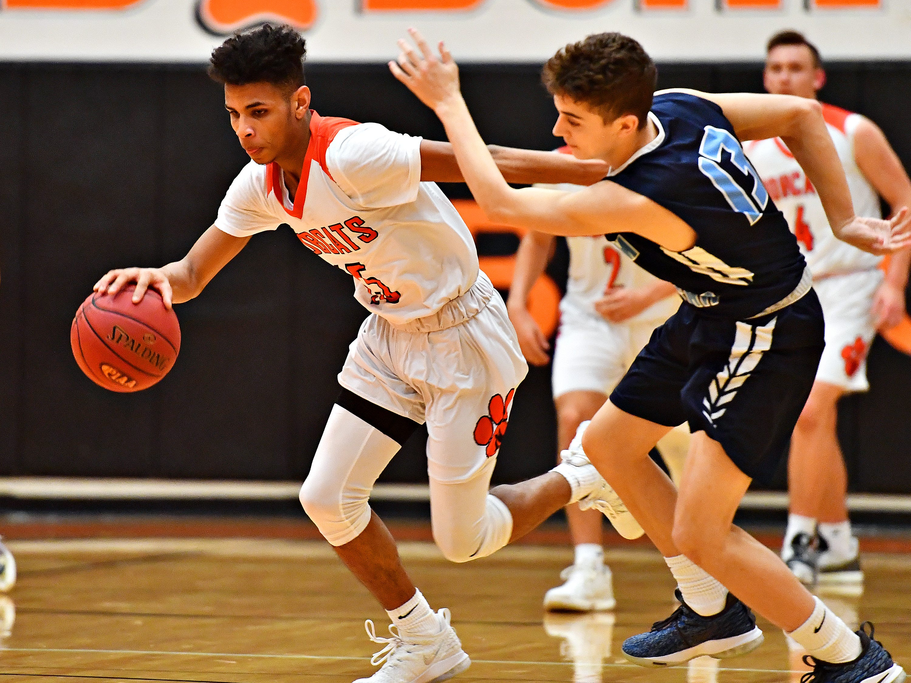 Manheim Township vs Northeastern during basketball action at Northeastern Senior High School in Manchester, Wednesday, Jan. 9, 2019. Northeastern would win the game 47-46. Dawn J. Sagert photo